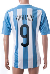 Wholesale Cheap Argentina Football Jerseys - Copa America 2015 cheap soccer jerseys Customized Argentina Home #9 Higuain Thai Quality Discount Football Top Soccer Tops, Free Shipping