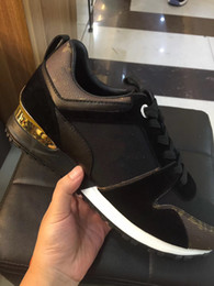 Wholesale Dress Shoes Running - High Quality Luxury Brand men shoes Black Genuine Leather Casual Shoes Red Bottom Sneakers superstar luxury designer dress sneaker size38-45