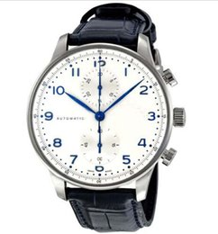 Wholesale Automatic Portuguese Watches - Luxury Watches Brand Men Watch Portuguese Chronograph Automatic Mens Watch 371446 WristWatches