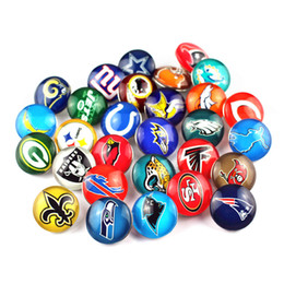 Wholesale Diy Slide Letter Bracelet - Wholesale 160pcs lot Mix 32 style America Football sport snap buttons DIY 18mm Snap Bracelet&Bangles Snap Jewelry Football Logo buttons