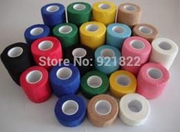 Wholesale Wholesale Adhesive Weave - wholesale Adhesive Bandage Non Woven Cohesive Elastic Bandage  Medical Elastic PBT Bandage 5cm*4.5m free shipping by SG POST