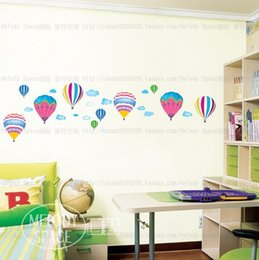 Wholesale Children S Bedroom Wall Stickers - Free ship!10pc!Hot air balloon flying dream DIY wall stickers   children 's room - bedroom cartoon stickers order<$15 no tracking