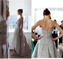 Wholesale Homecoming Dresses Zuhair Murad - Hi-lo Party Prom Dresses Evening Wear Zuhair Murad Shinning Party Red Carpet Pageant Celebrity Gown Quinceanera Homecoming Wear Custom Made