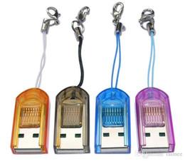 Wholesale Tiny Usb Reader - 100 pcs Memory Card Reader TF Card reader USB 2.0 Tiny Micro SD card reader wholesale