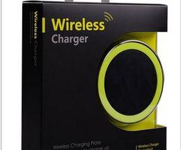 Зарядное устройство для сотовых телефонов qi беспроводная зарядка онлайн-2017 S8 Qi беспроводное зарядное устройство сотовый телефон Mini Charge Pad для Qi-abled устройства Samsung nokia htc LG мобильный телефон с розничной упаковке DHL бесплатно