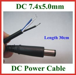Wholesale Wholesale China Dc - 2pcs DC Tip Plug 7.4*5.0mm   7.4x5.0mm DC Power Supply Cable with Pin Inside for Dell HP Laptop Charger DC Cord Cable 30cm