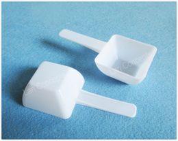 Wholesale G Foods - Free shipping-100pcs lot 15 g gram 30ML food grade PP medical milk powder Liquid spoon plastic scoop 96x45x25mm