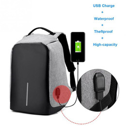 Wholesale Wholesale China Backpack - Canvas Men Backpack Anti Theft With Usb Charger Laptop Business Unisex Knapsack Shoulder Waterproof Women Travel Bag