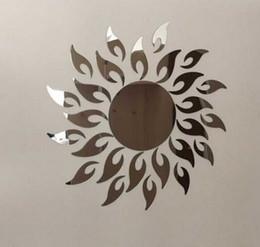 2018 Acryl Blumen Für Wände Reales Sonderangebot Spiegel Wohnzimmer Acryl  Diy Spiegel Aufkleber Uhr 3D Wandaufkleber