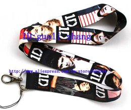 Wholesale One Direction Phone Lanyard - Wholesale-New Free shipping 50pcs ONE DIRECTION Cell PHONE LANYARD KEYS ID NECK STRAPS Key Chain