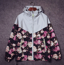 Wholesale Varsity Jackets Hoodie - Fall-mens jackets and coats 3m reflective jacket for men hip hop chaqueta hombre varsity jackets floral printed hoodie 2015 unisex