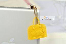 Wholesale Ear Jack Dust Plugs - Wholesale-Free shipping-wholesale phone accessories luxury LV bags hand bags anti jack dust plug ear cap for ipone& Ipad &