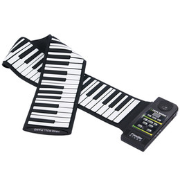 Wholesale Piano Rolls - 88 Key Electronic Piano Keyboard Silicon Flexible Roll Up Piano with Loud Speaker i200