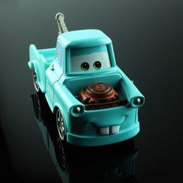Wholesale Die Cast 64 - Disny Children mini miniature cars toys mater tow truck blue metal die cast race truck car models alloy diecast car toys for boy