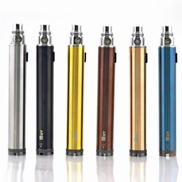 Wholesale Ego Twist Passthrough - 2015 ego vv battery variable voltage battery muv bottom twist 1600mah battery ego usb passthrough battery for 510 Protank RBA Evod atomizer