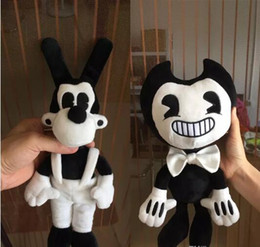 Wholesale Plush Animals Large - high quality Large Size Bendy and the ink machine Bendy and Boris Plush Doll Toys 50CM for Chidlren Christmas Gift