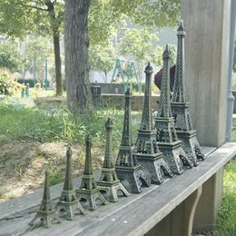 Wholesale Vintage Metal Tables - New Vintage Eiffel tower model 3D Eiffel Tower model Alloy Eiffel Tower desk table office home wedding party decoration