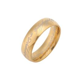 4 мм 6 мм 316L кольцо из нержавеющей стали древней легенды Хоббит Властелин колец унисекс очарование титана стальное кольцо 3color отправить кожаная цепь от Поставщики отправить кольцо