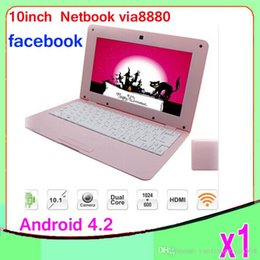 Wholesale Android Computer Hdmi - 1pcs 10inch Mini Laptop Notebook Computer webacm 512 4G 1G 8G Via 8880 Android netbook laptops HDMI Integrated Graphics ZY-BJ-3