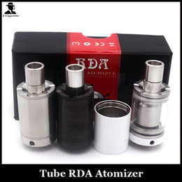 Wholesale Clear Rebuildable Atomizer - Tube RDA Rebuildable Drippping Atomizers Kit Airflow Control Top Filling Clear Glass Tube Vaporizer Fit 510 Thread Mods