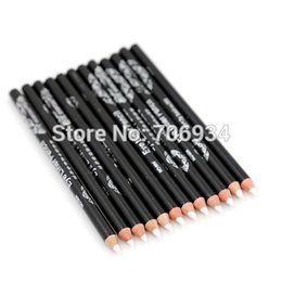 Wholesale Waterproof White Eyeliner Pencil - Wholesale-White Eyeliner 12pcs lot 1 Color Eyes Liner Pencil Waterproof Eye Liner Pencil Cosmetics Pencil CFP26 04#