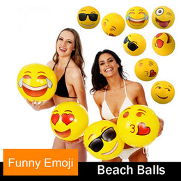 Wholesale Outdoor Universe - Funny Toys-Emoji Universe Emoji PVC Inflatable Beach Balls Inflatable Ball Pool Outdoor Play Beach Toys 12in wholesale Christmas