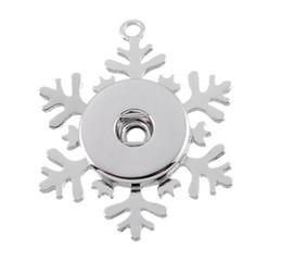 Wholesale Vintage Snowflake Necklace - Vintage Noosa Frozen Snowflake Pendant Necklace chunks snap button jewelry DIY Necklace Snap Button Bracelet Interchangable Jewelry