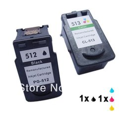 Wholesale Wholesale Brother Ink Cartridges - Free Shipping For Canon PG 512 CL 513 Remanufactured Ink Cartridges PG-512 CL-513 For Canon PIXMA MP250 MP280 MX320 MX340 IP2700