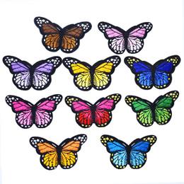 2019 größe schmetterling 10 STÜCKE Große Größe Schmetterling Streifen Patch für Kind Kleidung Bügeln auf Patch Applique Nähen Gestickte Patches DIY Etiketten Rucksack Zubehör günstig größe schmetterling