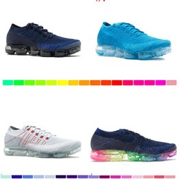 Wholesale D Shock - 2017 New Rainbow VaporMaxes 2018 BE TRUE Men Woman Shock Running Shoes For Real Quality Fashion Men Casual Vapor Maxes Sports Sneakers