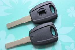 Wholesale transponder shells - 10pcs lot Car Transponder Key Shell Auto Blank Key Case Cover Fit For Fiat + Free Shipping