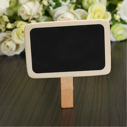 Wholesale Mini Paper Clips - Mini Cute Kawaii Wooden Blackboard Chalkboards Clips Holder for Paper Decoration Photo, Wood Clip Free shipping