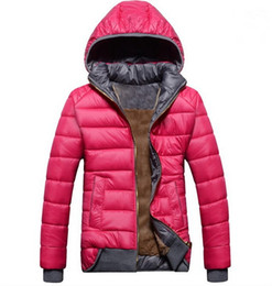 Wholesale Women S Velvet Jacket Coat - Wholesale-2015 new female models sport coat plus velvet down jacket women's winter warm hooded jacket Removable wd8162