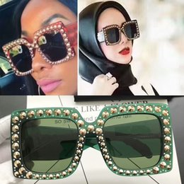 Wholesale Large Sunglasses Case - 0145 Top Quality Luxury Brand Sunglasses 0145S Large Frame Elegant Special Designer with Rivets Frame Built-In Circular Lens Come With Case