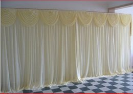 Wholesale Curtains Best Wedding Decoration - Best selling Wedding backdrops Wedding gauze curtain decorate custom any colour for Wedding Decorations shipping free