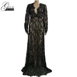 Wholesale Straight Maxi Dress - Pregnant Women Lace Maxi Dress Maternity Photography Props Sheer V-neck Thin Type Maxi Gown Fancy Shooting Photo Summer Pregnant Dress Plus