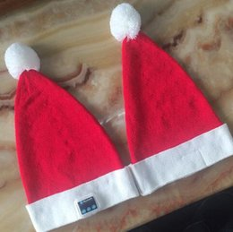 Wholesale Santa Hat Beanie - Wireless Bluetooth Christmas Beanies Sport Music Hat Smart Headset Cap Warm Winter Santa Claus Hat For All Smart Phones CCA8055 50pcs