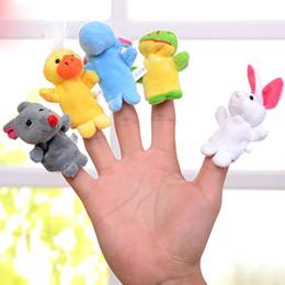 boneca de bebês bonitos Desconto Atacado-Cute little finger fantoche de dedo animal tecido duplo conto de fadas performances berçário brinquedos para persuadir o bebê mamãe essencial
