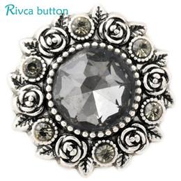 D02811 Nuevos estilos de Cristal 20mm de Metal botón a presión Fit Snap BraceletBangles encanto Rhinestone Estilos Botón Rivca Snaps Jewelry NOOSA Chunk desde fabricantes