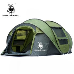 Wholesale Camouflaged Tents - Wholesale- 2017 Huge 3-4 person family party automatic pop up speed open hiking windproof travel indoor beach fishing outdoor camping tent