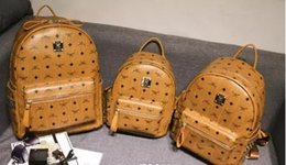 Wholesale Hot School Boys Girls - Free Shipping 2018 brand hot New Arrival Fashion Women School Bags Hot Punk style Men Backpack designer Backpack PU Leather Lady Bags