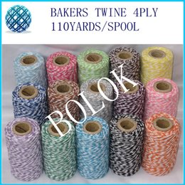 Wholesale Divine Twine - colorful thin Bakers twine (110Yards spool) 500pcs lot ,divine twine, cotton twine 22kinds color you can choose by free shipping