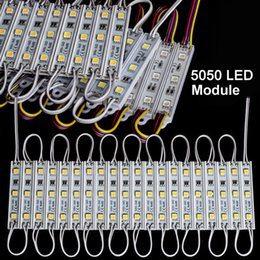 Wholesale Led G Lamp - Lowest Price 5050 SMD 3LED Module Lamp Waterproof IP65 LED Strips String Lights DC12V WW PW WW R G B Y
