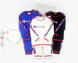 Wholesale Sports Shirts Collar - Baby Boys Clothing set Casual Sport patrulha pata Tracksuit Infant Toddler boys Clothes Top T shirt + Pants
