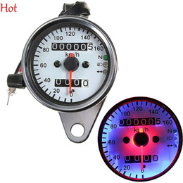 Wholesale Motorcycle Dual Odometer Speedometer Gauge LED Backlight Signal Light Universal Digital Speedometer Motorcycle Instruments Hot Sale SV005127