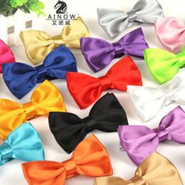 Wholesale Silk Panties For Women - Korean Style Gentlemen New Men Boys Kids Children Pre Tied Satin Bowties Bow Ties Silk Panties Bow Tie For Children Men Boy Ties