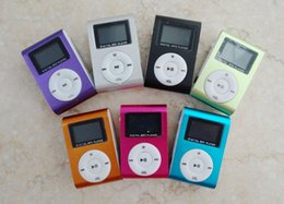 Wholesale Usb Gif - Colorful MINI Clip MP3 Player with 1.2'' Inch LCD Screen Music player Support Micro SD Card TF Slot + Earphone +USB Cable with Gif B-MP