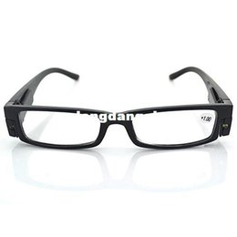 Wholesale Great Eyeglasses - LED Eyewear Reading Glasses Eyeglass Spectacle Diopter Magnifier Light Up for Men Women