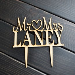 Wholesale Unique Cakes - Custom name cake topper, Wooden wedding cake topper, Mr and Mrs cake topper, Unique Wedding Gift, Wooden cake topper
