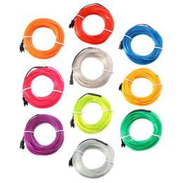 Wholesale Led Soft Neon - Wholesale- 10M EL Led Flexible Soft Tube Wire Neon Glow Car Rope Strip Light Xmas Christmas Decor DC 12V